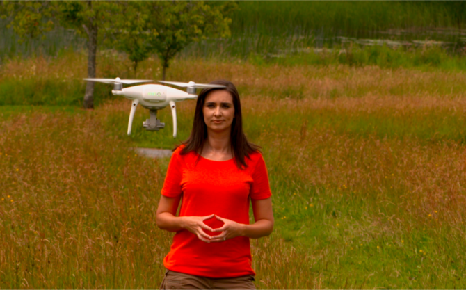 Aoibhinn with Drone